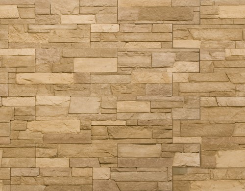 Glasmozaiek FGS Fired met natuursteen beige